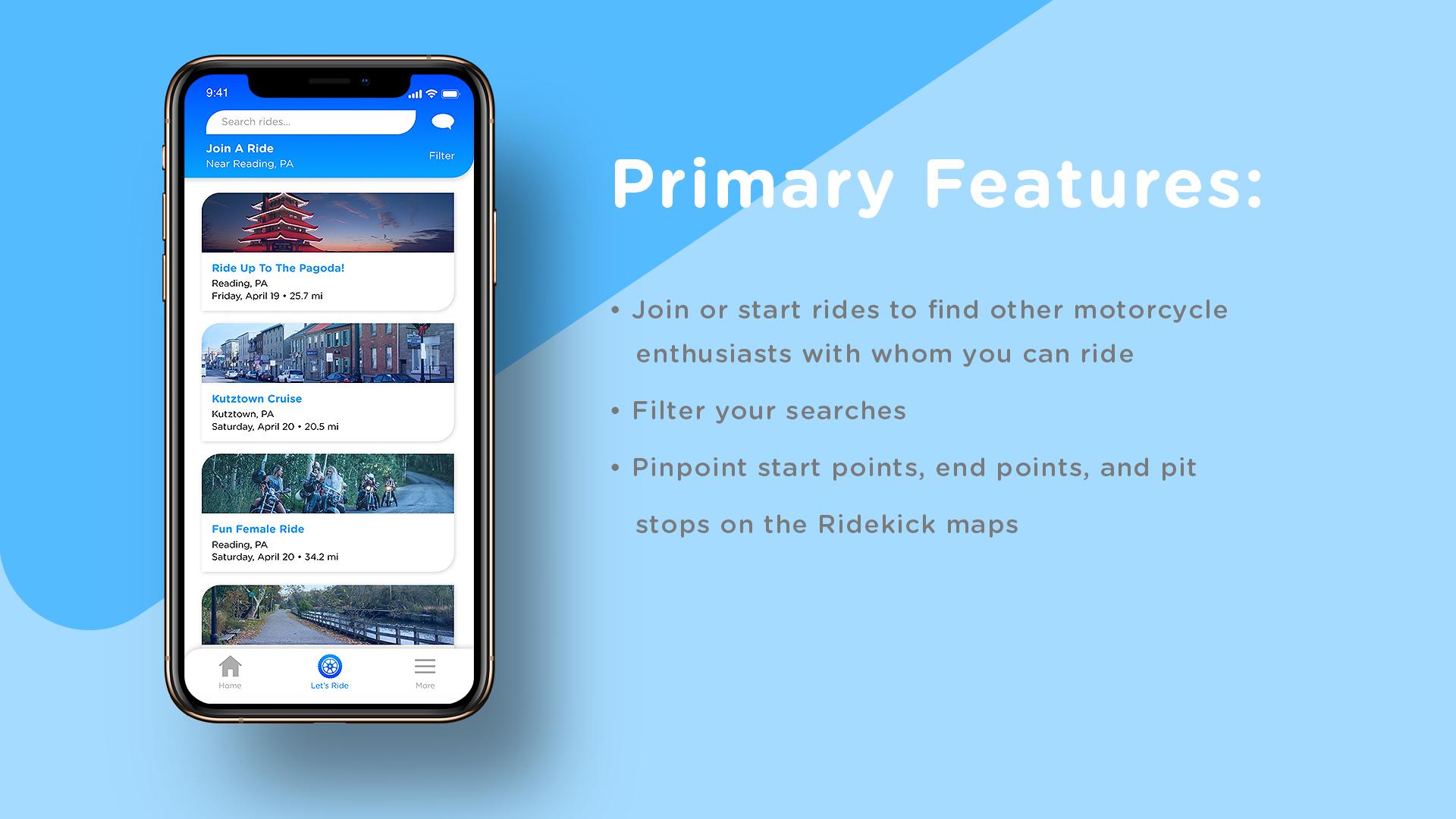 Ridekick Features 1