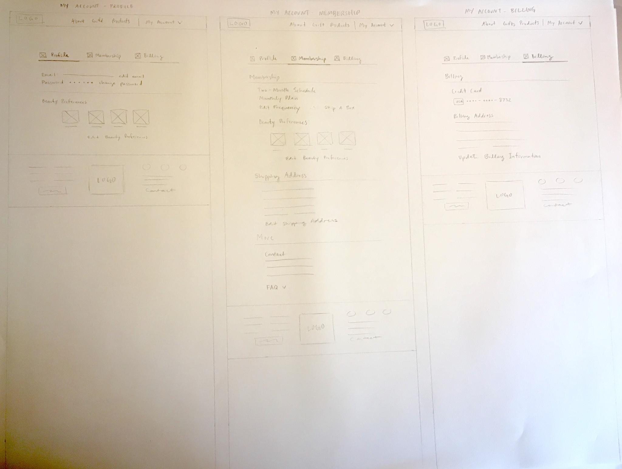 paper wireframes
